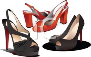 free women's shoe clipart